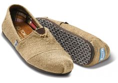 Burlap TOMS...my summer shoe 2012