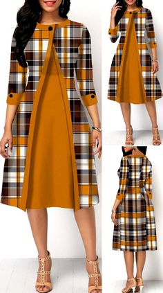Women's Dresses, Pretty Dresses, Beautiful Dresses, Dress Outfits, Jean Outfits, Dresses For Work, Latest African Fashion Dresses, African Print Fashion, Women's Fashion Dresses