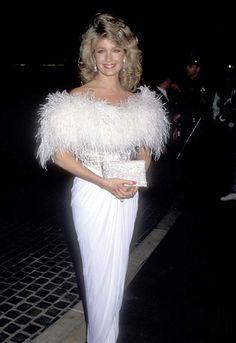 Deidre Hall at an event for The Annual Golden Globe Awards Glamour Movie, Deidre Hall, Golden Globe Award, Golden Globes, She's A Lady, 2000s Fashion, Sexy Wedding Dresses, Big Hair, I Dress