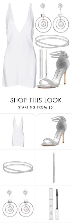 """""""beautiful day"""" by j-n-a ❤ liked on Polyvore featuring Christopher Kane, Manolo Blahnik, Maison Margiela, NYX and Zelens"""