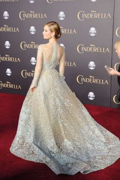 Lilly James at the Cinderella premiere in a Cinderella-esque Elie Saab gown. 412e8502b130