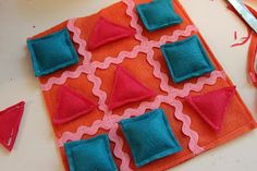 Tic Tac Toe Craft - Delicate Construction - used these as some of my homemade fish extender gifts on the disney cruise