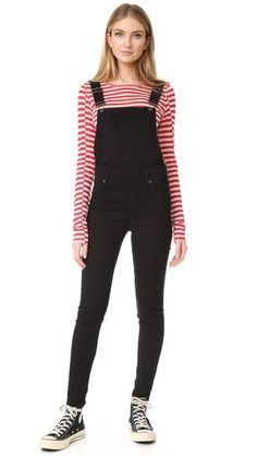 1a78ccd9bbd Cheap Monday Dungaree Spray Black Overalls