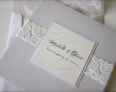 Soft Romantic Lace Wedding Invitation in by madisonjennifer