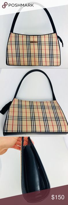 Burberry Nova Check Purse Classic Pattern 12x7x3 Good condition. It does  have 3 stains. 69b1b4010f803