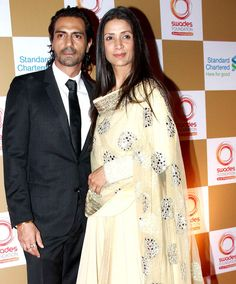Arjun Rampal with wife Mehr Jessia Rampal