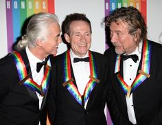 Jimmy Page, John Paul Jones and Robert Plant, Kennedy Center Honorees