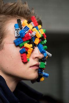 "AGI&SAM'S, London Fashion Week, ""Lego Mania"", (sponsored by Super Glue), pinned by Ton van der Veer"