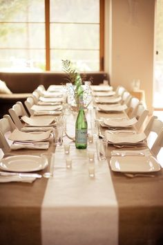 Feast Catering- Burlap   FEAST CATERING and EVENTS  Love the simplicity ~