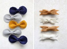 Super Simple Bows: Would make awesome cip-on bow ties! Love the reclaimed leather ones for my boys. These look so simple to make!
