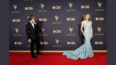 William H Macy and Felicity Huffman on the red carpet, Emmy's 2017