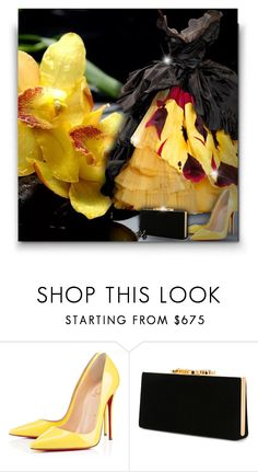 """Yellow & Black!"" by asia-12 ❤ liked on Polyvore featuring Christian Dior, Christian Louboutin, Jimmy Choo and Oscar de la Renta"