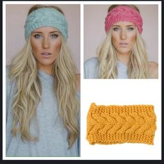 New crocheted headband earmuffs ear warmer New crocheted ear warmers pick you color! Please do not buy this listing you pick your color and I make you a new list Accessories Hair Accessories