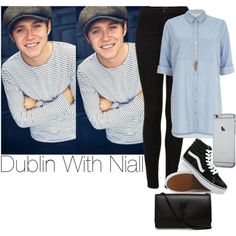 Niall~#21 by lauren-12-pyd on Polyvore featuring River Island, Topshop, Vans, Yves Saint Laurent and Forever 21
