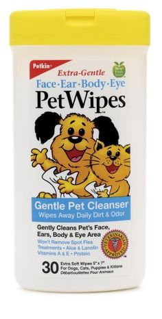 $25.29-$36.13 PetWipes contain natural ingredients to keep your pets fresh and clean, while softening the skin and conditioning the coat. Ingredients include herbal extracts, protein, aloe vera, lanolin, vitamins and more. Pure baking soda and a mild fragrance helps to control odors. Safe and gentle enough to use daily on dogs and cats of all ages. Perfect for quick clean-ups any time, anywhere.  ...