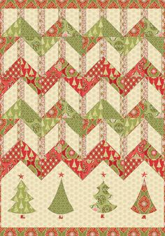 FREE pattern: Christmas Zigzag (from Blend Fabrics)