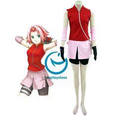 Naruto Shippuden Haruno Sakura Cosplay Costume #naruto #sakura #cosplay