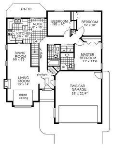 U shaped house plans with garage efficient u shaped for Coolhouseplans com