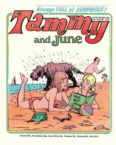 Tammy comic postcard from Classic Comics 70's Girl's Postcard Box Set.
