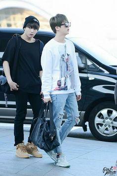 Jungkook & Jin Airport fashion