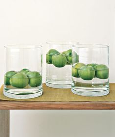 Green Apple Centerpieces - incredibly easy, if you have the right vases Apple Centerpieces, Summer Centerpieces, Fruit Centerpiece Ideas, Diy Centrepieces, Floral Decorations, Thanksgiving Centerpieces, Wedding Decorations, Poster Design, New Fruit