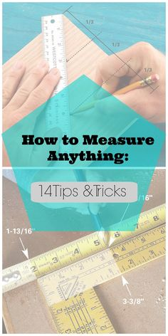 woodworking tips 14 Brilliant Measuring Tricks! Great tips on how to get an accurate measurement when working on projects! Via Family Handyman - Use these clever tricks to work faster and better Learn Woodworking, Woodworking Plans, Woodworking Projects, Woodworking Furniture, Popular Woodworking, Woodworking Techniques, Youtube Woodworking, Woodworking Patterns, Woodworking Chisels