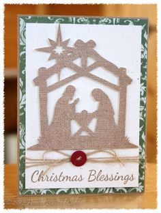 Nativity Christmas Card by housesbuiltofcards - Cards and Paper Crafts at Splitcoaststampers