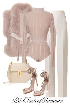 Untitled by leilaallaf on Polyvore featuring polyvore, fashion, style, Elie Saab, Emilia Wickstead, Schutz and Chloé