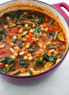 Kale and Quinoa Minestrone {Vegan and Gluten Free} - Cooking Classy