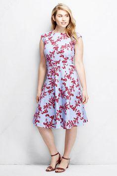 a9a13c08f25 Women s Ponté Flounce Skirt Dress - Pattern from Lands  End Curvy Dress