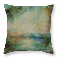 Light after the Storm watercolor art throw pillow