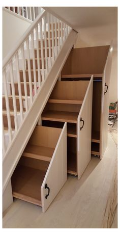 Home Stairs Design, Home Room Design, Home Interior Design, House Design, Staircase Storage, Storage Under Stairs, Desk Under Stairs, Living Room Under Stairs, Stairs And Hallway Ideas