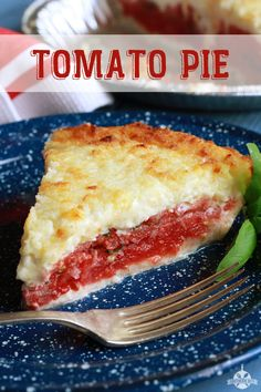 South Your Mouth: Tomato Pie _ With Mozzarella & Parmesan Cheese. This delicious tomato pie is a real favorite at our house. The fresh basil really put it over the top, but the dried basil works just as well if you don't have fresh. Side Dish Recipes, Pie Recipes, Cooking Recipes, Side Dishes, Main Dishes, Aloo Recipes, Dinner Recipes, Cooking 101, Gastronomia