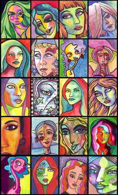 Colorful, Funky Portraits