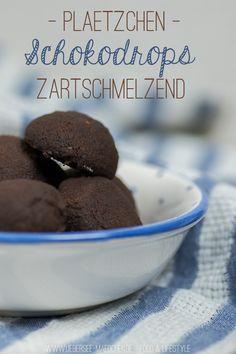 Plätzchen-Rezept für Schokodrops | Recipe for Christmas-Cookies: Chocolate-Drops via ÜberSee-Mädchen.de