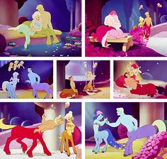 Fantasia's centaurs.  You have to wait to see Hercules to realize how BIG these creatures actually are!