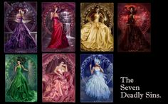 The Seven Deadly Sins by dahlig Angels And Demons, The Seven, Seven Deadly Sins, Shades Of Purple, Sloth, Lust, Cool Pictures, Aurora Sleeping Beauty, Photoshoot