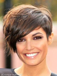 Short Hair Styles: My hubby loves short hair idk why... but I kinda like this haircut but with my curls I don't think I cud do it