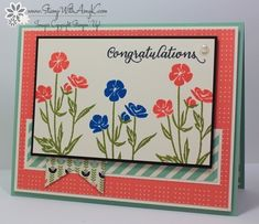 Wild About Flowers Congratulations by amyk3868 - Cards and Paper Crafts at Splitcoaststampers