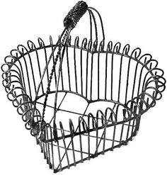 Heart Shapped Wire Basket