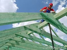 ❧ Roof construction by Roman Milert, via Dreamstime