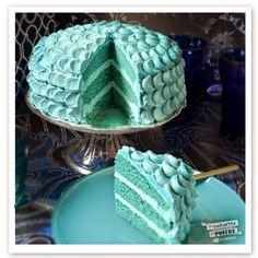 Blue velvet layer cake