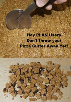 """A new use for your old """"Pizza"""" cutter Making Flax Granola, the daily breakfast while you are on The Plan"""