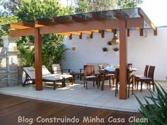 Make your day with these fabulous backyard pergola design. Add pergola in backyard place to escape of city life. If you have some time, see these ideas Pergola With Roof, Pergola Plans, Pergola Kits, Backyard Retreat, Backyard Pergola, Backyard Landscaping, Outdoor Living Rooms, Outdoor Spaces, Outdoor Decor