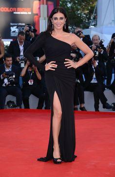 Nadine Labaki in ELIE SAAB Prefall 2012 for the closing ceremony of the 69th Venice International Film Festival.