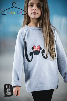 """☼ AWESOME grey MINNIE """"LOVE"""" sweatshirt ☼ ☼ £10.99 / €14 ☼ ☼ sizes: 1-2y(92-98cm) ☼   please order from https://fb.me/laamikids  Paypal or bank transfer accepted  please follow us on:  Facebook: https://fb.me/laamikids  Instagram: https://www.instagram.com/la_ami_kids/  Pinterest: https://www.pinterest.com/laamikids/"""