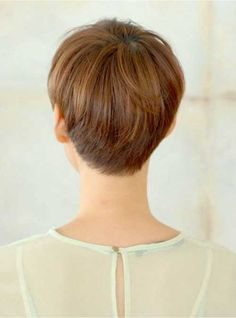 Brown Pixie Back View