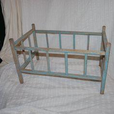 Antique or Vintage Baby Doll Bed very rustic primitive looking wood crib via Etsy