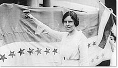 Alice Paul celebrates the ratification of the women's suffrage amendment in 1920. Paul is one of the chief authors of the Equal Rights Amendment.