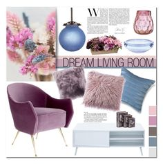 """Dream Living Room"" by oregonelegance ❤ liked on Polyvore featuring interior, interiors, interior design, home, home decor, interior decorating, Lenox, Allstate Floral and living room"